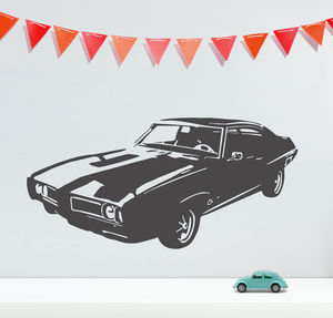 Pontiac Muscle Car Vinyl Wall Sticker