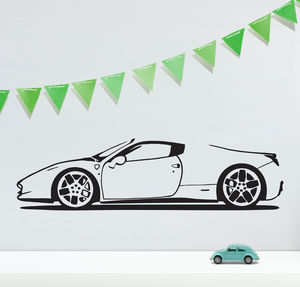 Spider Sports Car Vinyl Wall Sticker - office & study