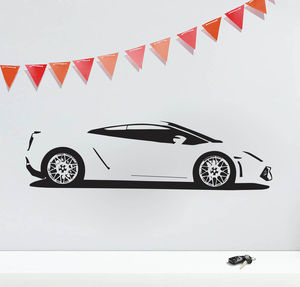 Gallardo Sports Car Vinyl Wall Sticker - children's room