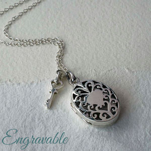 Silver Vintage Oval Locket Necklace - necklaces & pendants