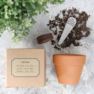 Personalised 'My Love For You' Plant Set