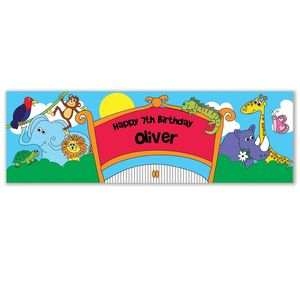 Personalised Zoo Themed Banner