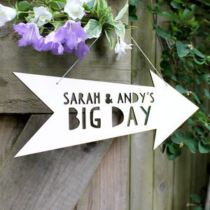 Personalised Wedding Wooden Sign - room signs