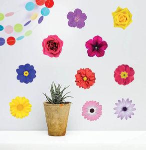 'Photo Realistic Flowers' Wall Sticker Set - wall stickers