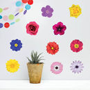 'Photo Realistic Flowers' Wall Sticker Set