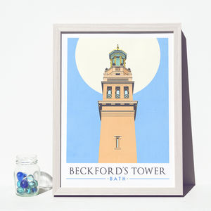 'Beckford's Tower' Art Print