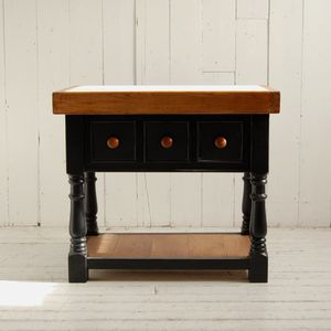 Victorian Marble Butchers Block - furniture