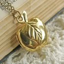 Golden Apple Locket Necklace