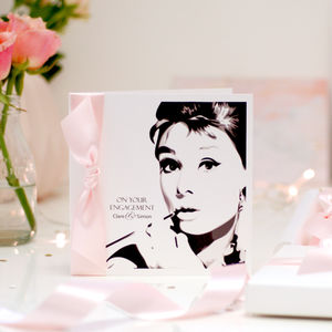 Tiffanys Personalised Engagement Card - engagement cards