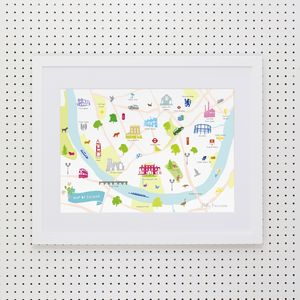 Map Of Fulham Art Print