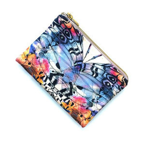 Gemini Butterfly Print Makeup Bag - make-up bags