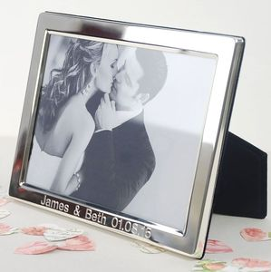 Personalised Silver Photo Frame - weddings sale