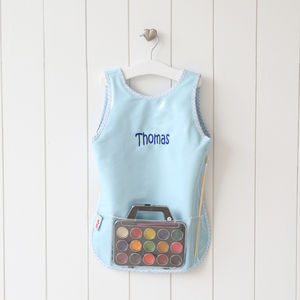 Personalised Blue Painting Apron - baby & child sale