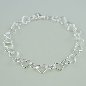 Sterling Silver Heart Bracelet - personalised