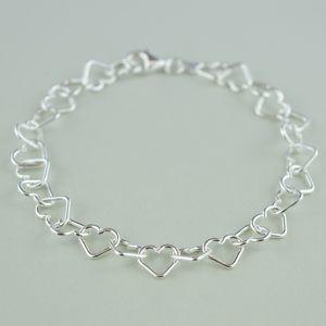 Sterling Silver Heart Bracelet - bracelets & bangles
