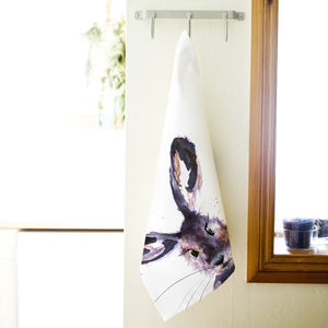 Inky Hare Tea Towel - kitchen accessories