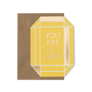 You Are A Gem Card - thank you cards
