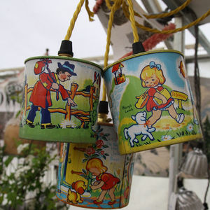 Vintage Nursery Rhyme Tin Lights - lighting