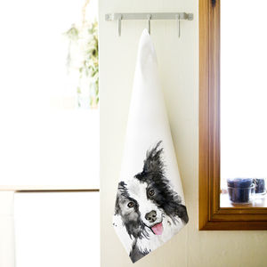 Inky Dog Tea Towel - kitchen linen