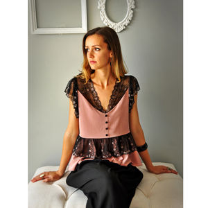 Vintage Style Blouse - women's fashion