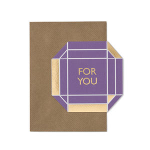 'For You' Gem Card - thank you cards