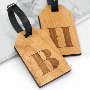 Personalised Wooden Letter Luggage Tags - style-savvy