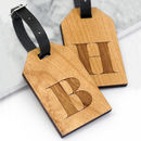 Personalised Wooden Letter Luggage Tags