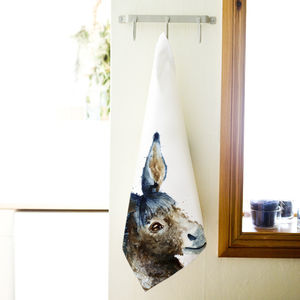 Inky Donkey Tea Towel