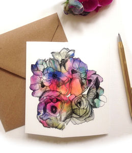 'May Flowers' Square Greeting Card