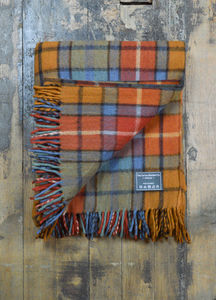 Classic Wool Blanket In Antique Buchanan Tartan - throws, blankets & fabric