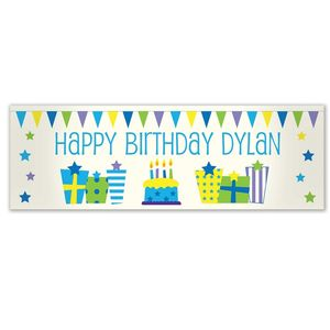 Personalised Male Present Banner