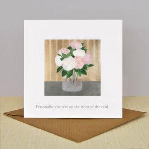 Personalised Illustrated 'Rose Vase' Vintage Card - birthday cards