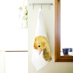 Inky Duckling Tea Towel