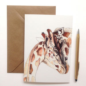 Giraffe Illustration Greeting Card - shop by occasion