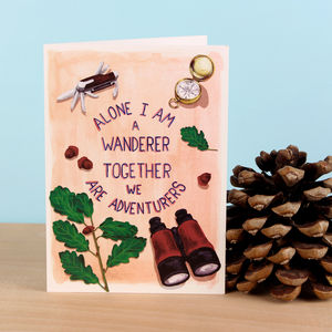 We Are Adventurers Valentine's Card - blank cards