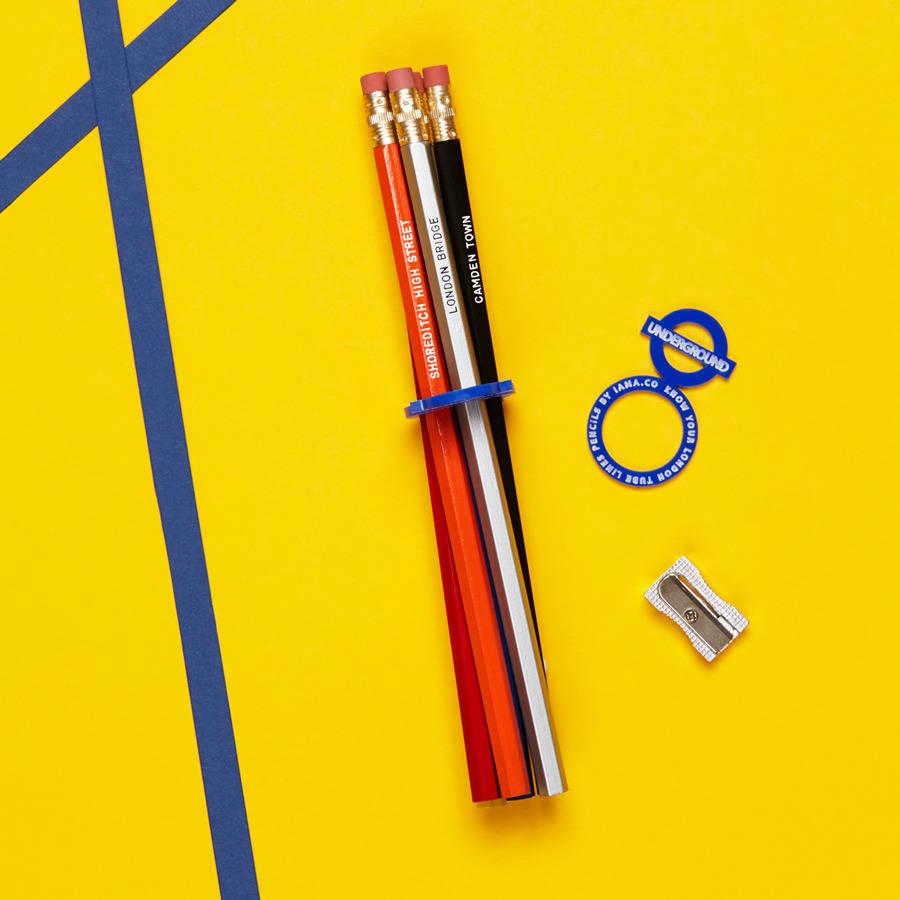 London Underground Pencils Set