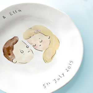 Personalised Wedding Plate - wedding gifts