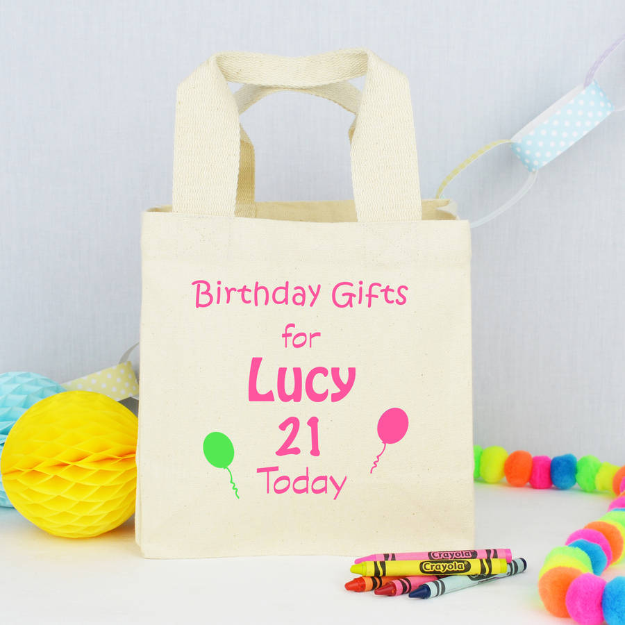 Personalised 'birthday' Gift Bag By Andrea Fays