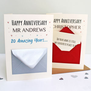 Personalised Anniversary Secret Messages Card - shop by category