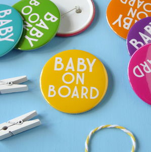 Pregnant Baby On Board Badge - pins & brooches