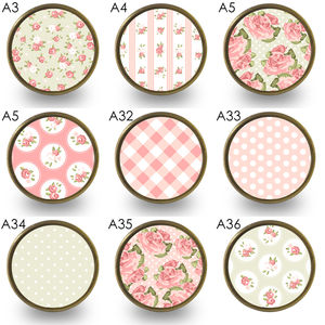 Floral Patterned Cupboard Door Knobs