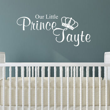Our Little Prince Personalised Wall Sticker