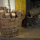 Round Willow Log Basket W18