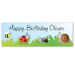 Personalised Birthday Bugs Banner