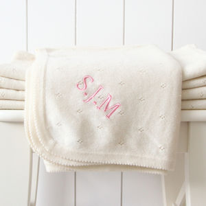 Personalised 100% Cashmere Blanket - luxury baby care