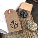 Nautical Wedding Save The Date Stamp