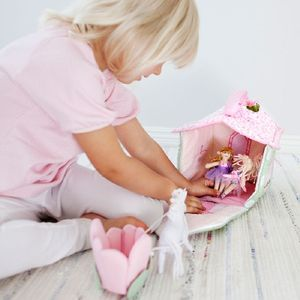 Soft Play Fairy Cottage With Fairies And Unicorn - dolls' houses