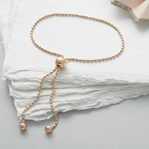 Gold Vermeil Bead Slider Friendship Bracelet