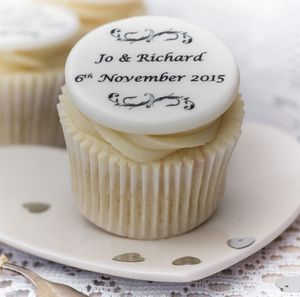 Personalised Wedding Cupcake Toppers - cake toppers & decorations