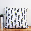 Monochrome Handmade Penguin Cushion